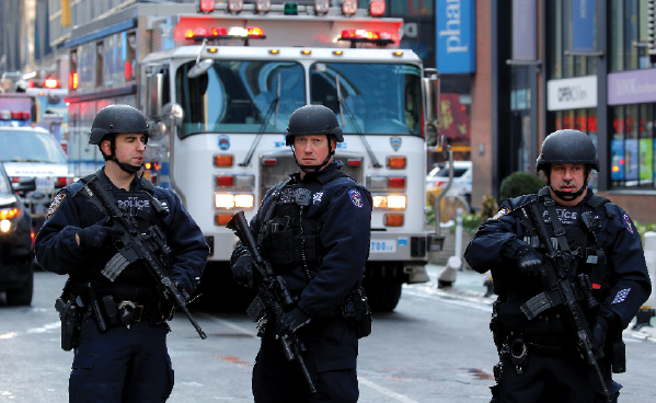 Explosion Reported Near Times Square