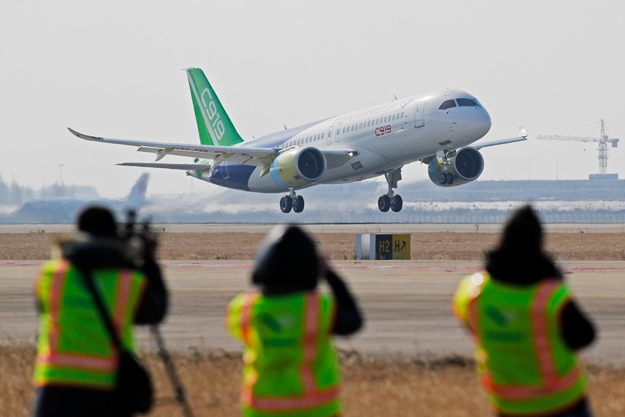 Chinese C919 Passenger Jet Prototype Makes Successful Test Flight