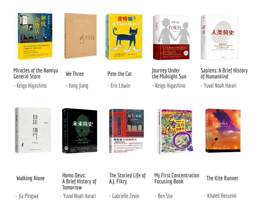 2017s Bestselling Books In China Chinadaily