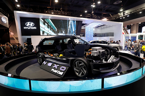 Tech Firms Explore Future Of Transport Beyond The Car Chinadaily - Car show in vegas 2018
