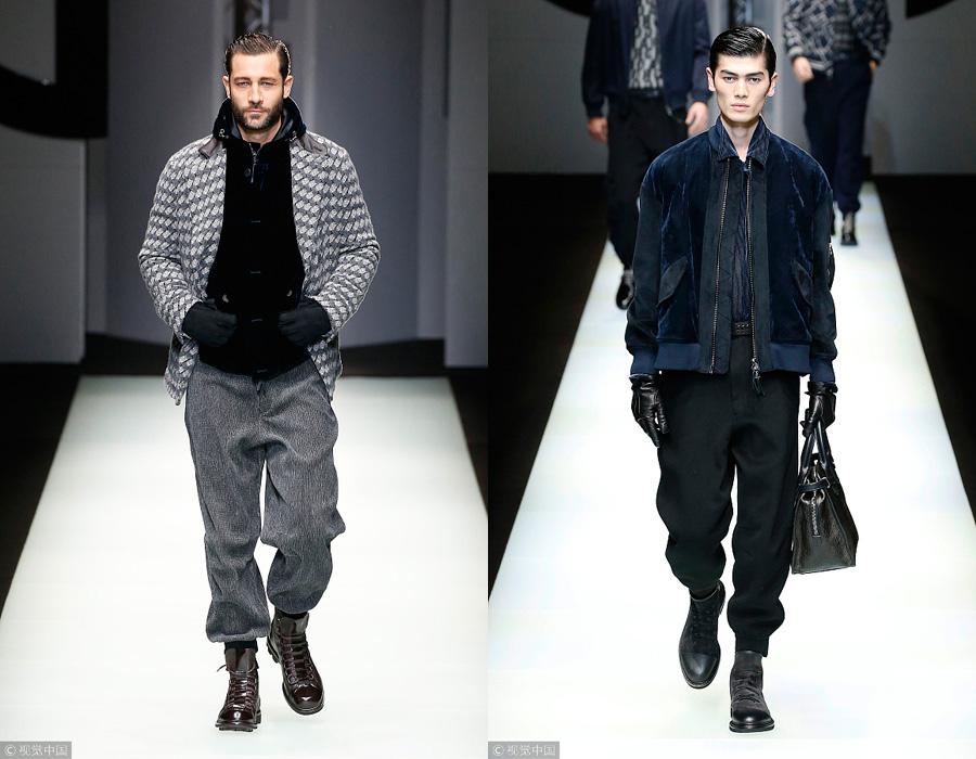 53ca8a4e269 2018 Milan Men s Fashion Week  Giorgio Armani - Chinadaily.com.cn