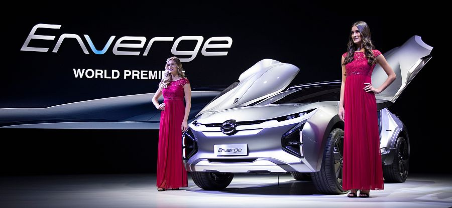 The Enverge World Premiere Electric Concept Vehicle Is Unveiled At Gac News Conference During 2018 North American International Auto Show In Detroit