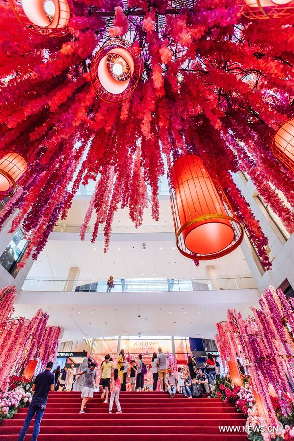 Malaysias dream garden set to greet chinese new year chinadaily people visit the decoration named dream garden of prosperity which is set to welcome the upcoming chinese lunar new year at pavilion shopping mall in m4hsunfo