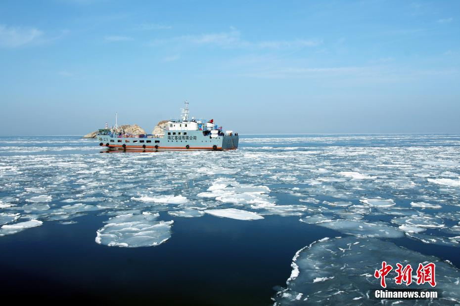 Sea ice covers Yellow Sea in Dalian - Chinadaily.com.cn