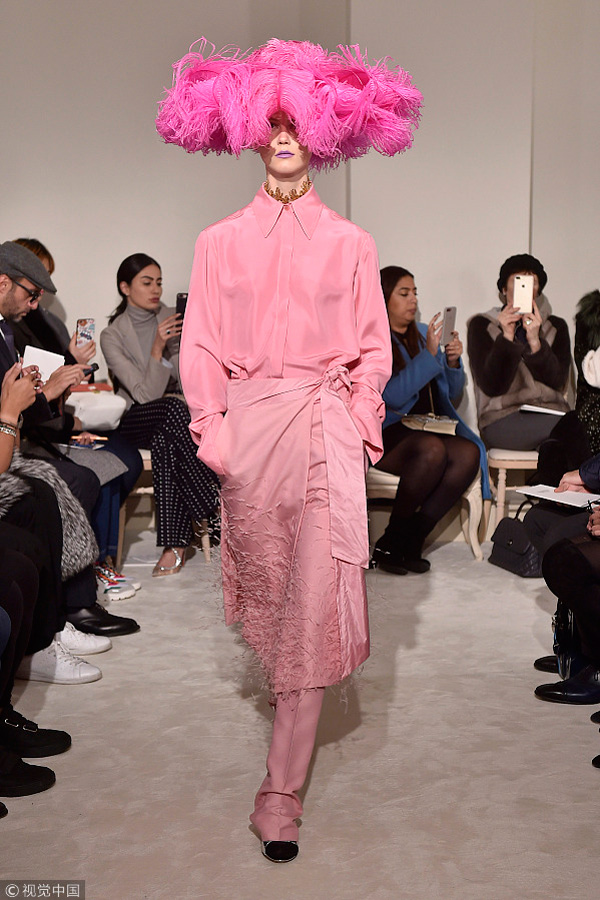 b493c298 A model walks the runway at the Valentino Spring Summer 2018 fashion show during  Paris Haute Couture Fashion Week on January 24, 2018 in Paris, France.
