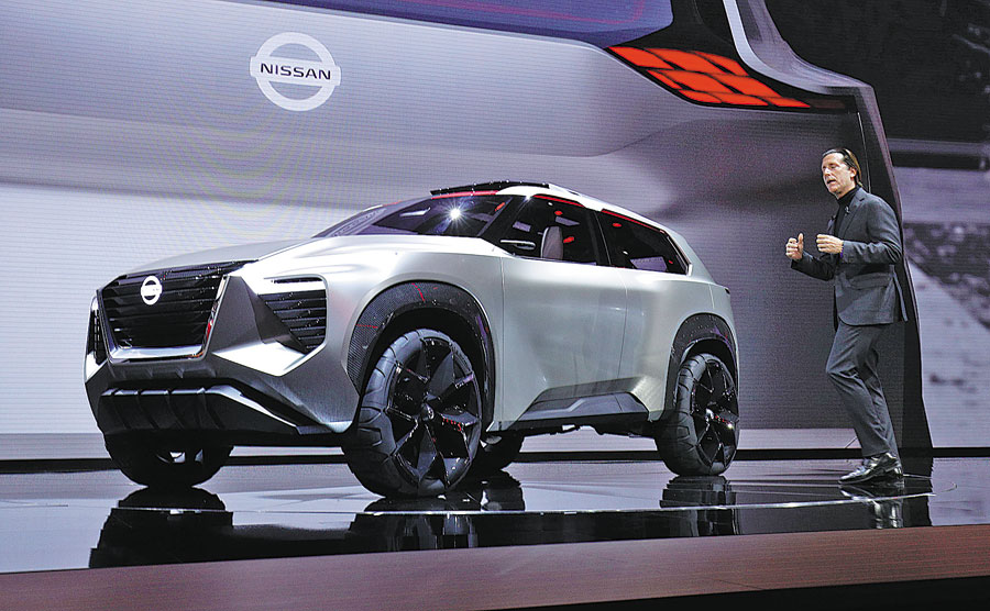 The New Nissan Xmotion Crossover Concept Vehicle Is Debuted At 2018 North American International Auto Show In Detroit Michigan