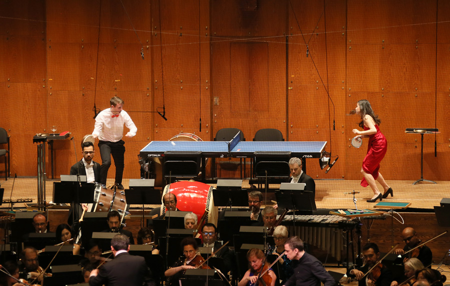 Live ping-pong takes center stage at New York Philharmonic