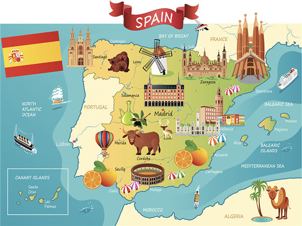 Travel Map Of Spain.Spain Opens Route In Honor Of Writer Travel Chinadaily Com Cn