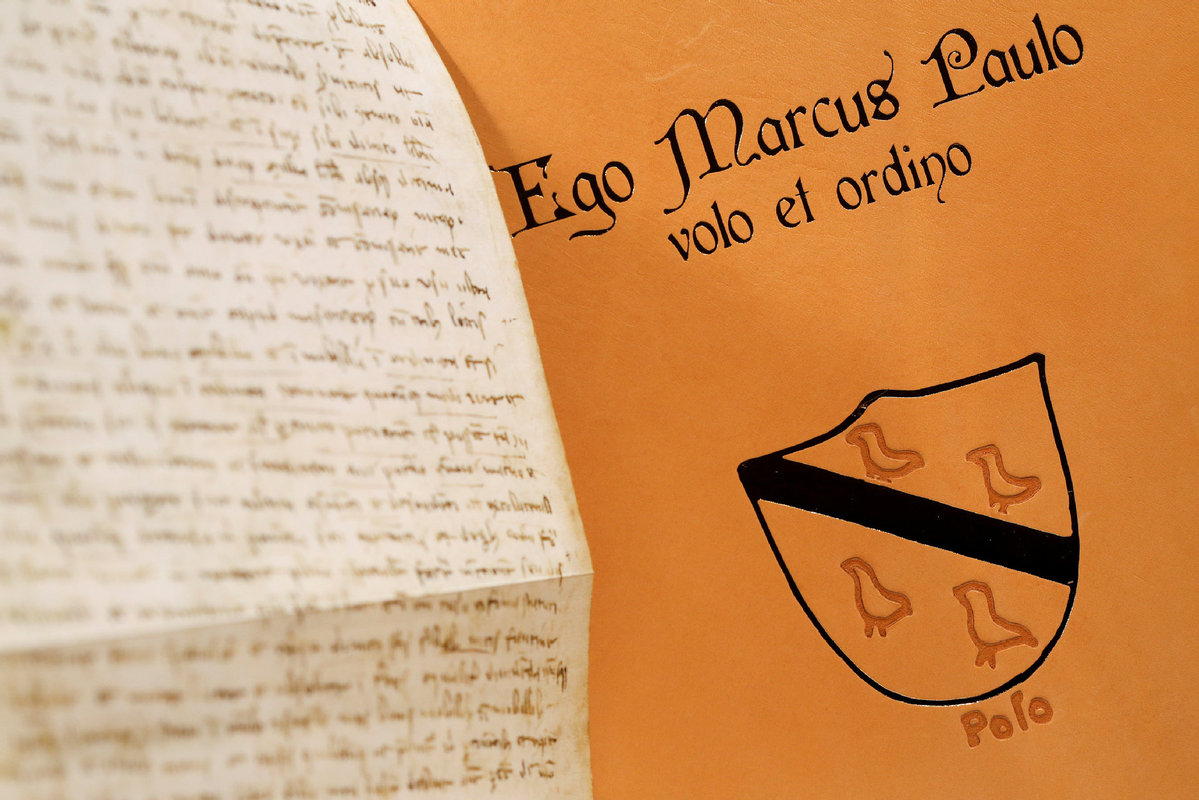71c1cadda An exact replica of Marco Polo s 700-year-old last will and testament