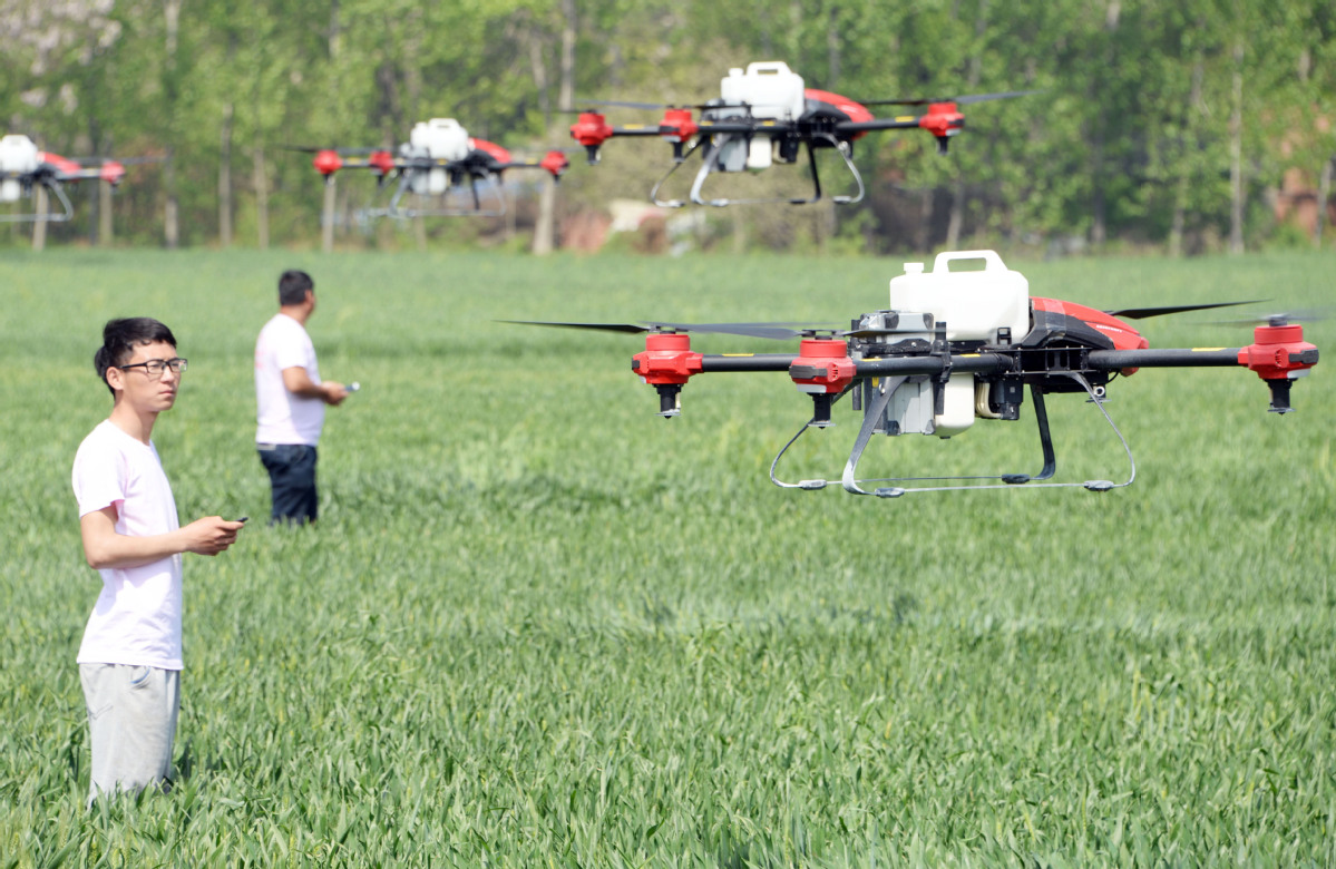 Drones help ease China's labor shortage in rural areas - Chinadaily