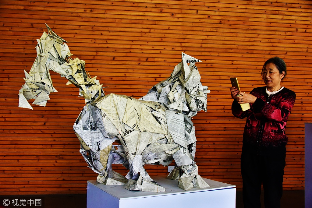 Hangzhou exhibition turns trash into modern art