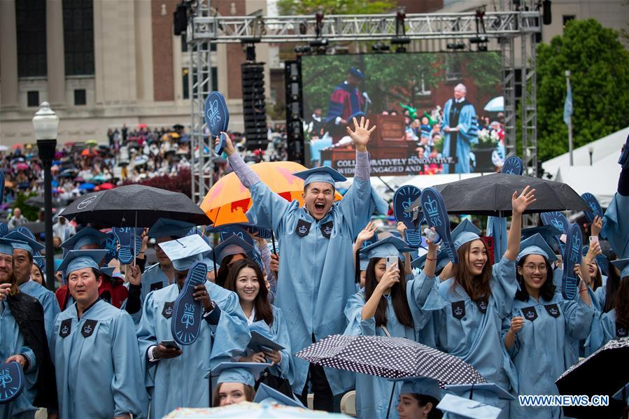 columbia university holds commencement ceremony chinadaily com cn