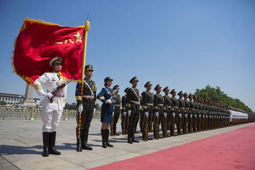 PLA Honor Guard debuts female members