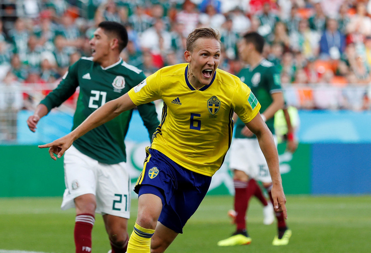 Sweden top Group F after beating Mexico 3-0 - Chinadaily com cn