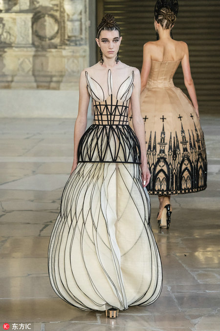 Chinese Designer Brings Architecture Inspired Works To Paris Chinadaily Com Cn