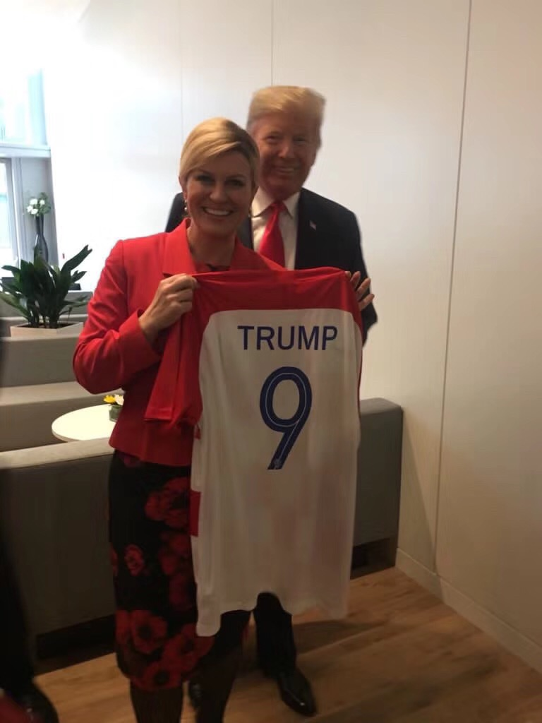 9e6248e3c95 World Cup hot spots  Croatian president is all smiles - World ...