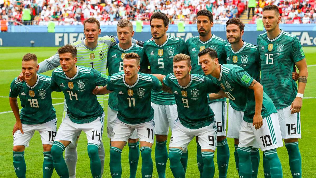 Germany national team pose ahead of their 2018 FIFA World Cup Group F match  against S. Korea at Kazan Arena Stadium ea285be31