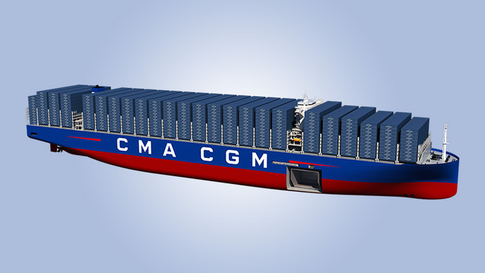 World's largest container vessels under construction in Shanghai