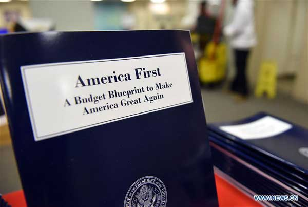 Increased us defense budget can set off arms race opinion copies of us president donald trump administrations first budget blueprint are seen in washington dc the united states on march 16 2017 malvernweather Choice Image