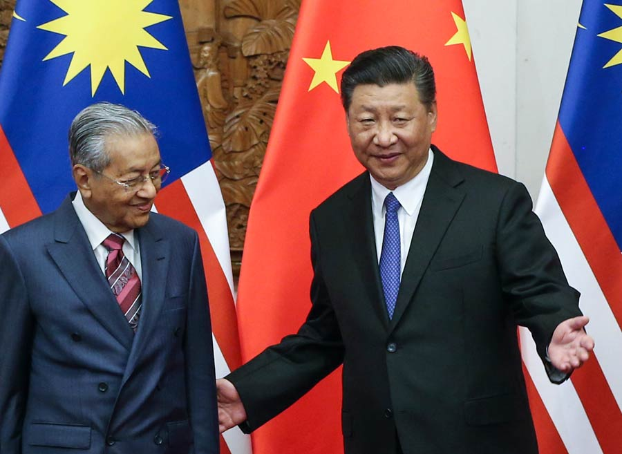 Image result for mahathir xi jinping