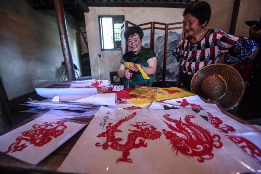 水乡剪纸图片欣赏