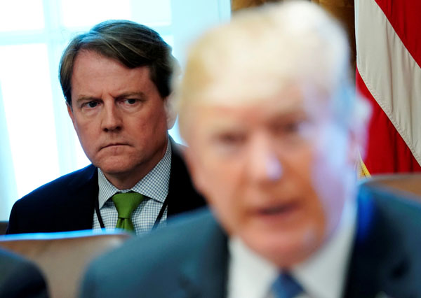 White House Counsel Don McGahn Is Reportedly Quitting This Fall