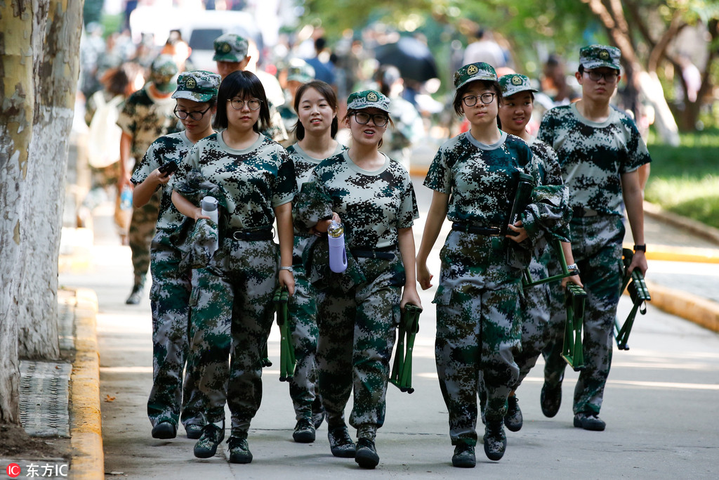 Decoding Generation Z at college: Military training - Chinadaily com cn
