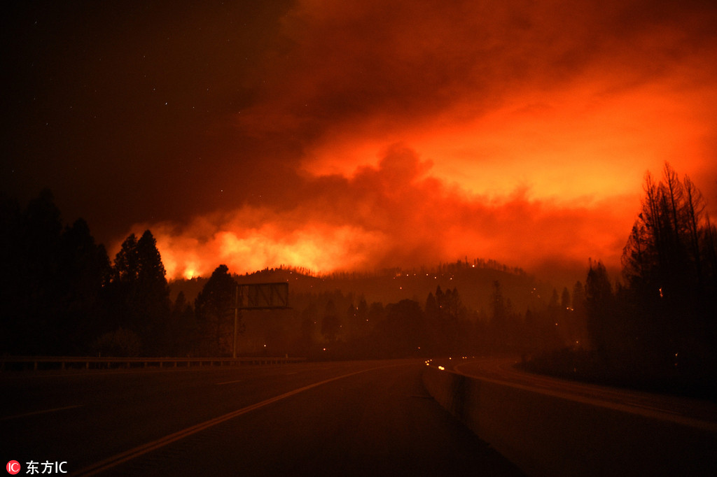 New wildfire rips through northern California