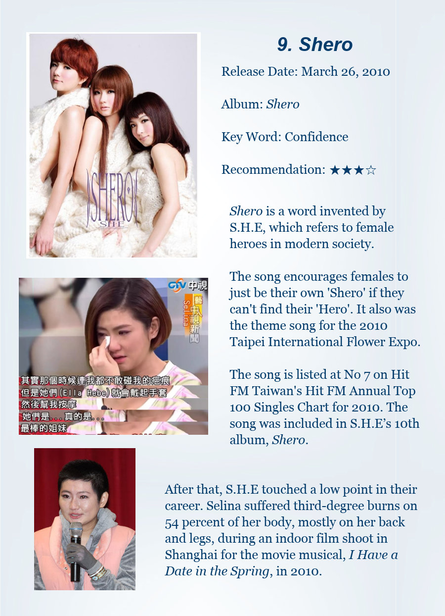 10 Songs To Illustrate Best Of Pop Group She Chinadaily
