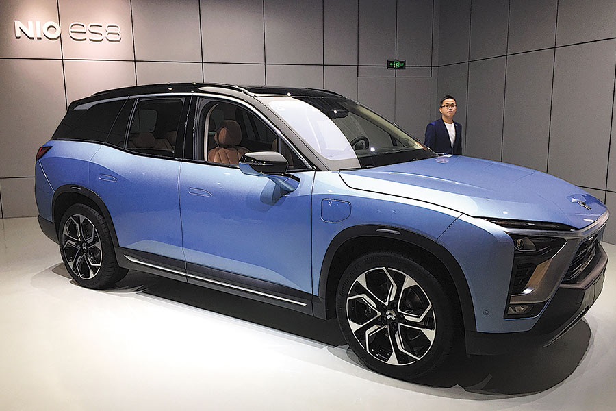A Nio Es8 Suv Is Displayed At Ping Mall In Wuhan Hubei Province Photo By Chu Lin For China Daily
