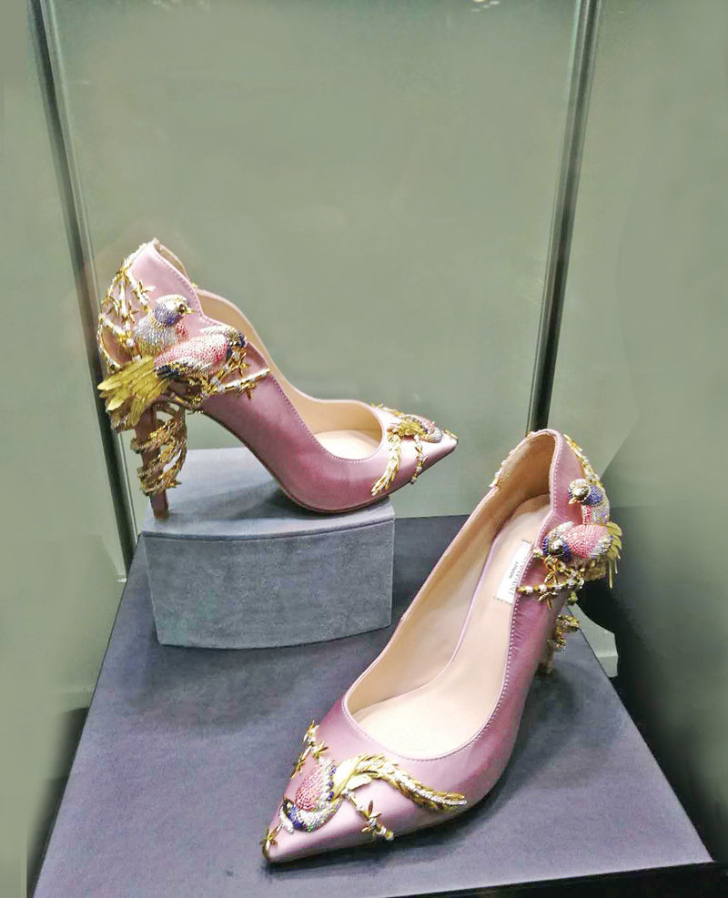Choo's jeweled shoes making dazzling