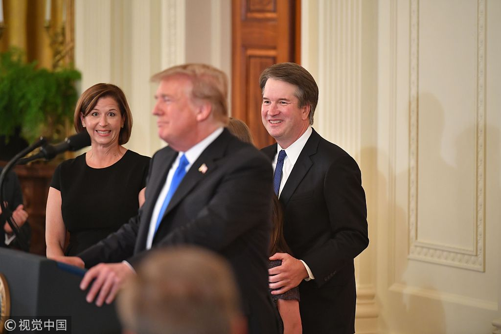 Trump says Dems using 'con game' to sink Kavanaugh court bid