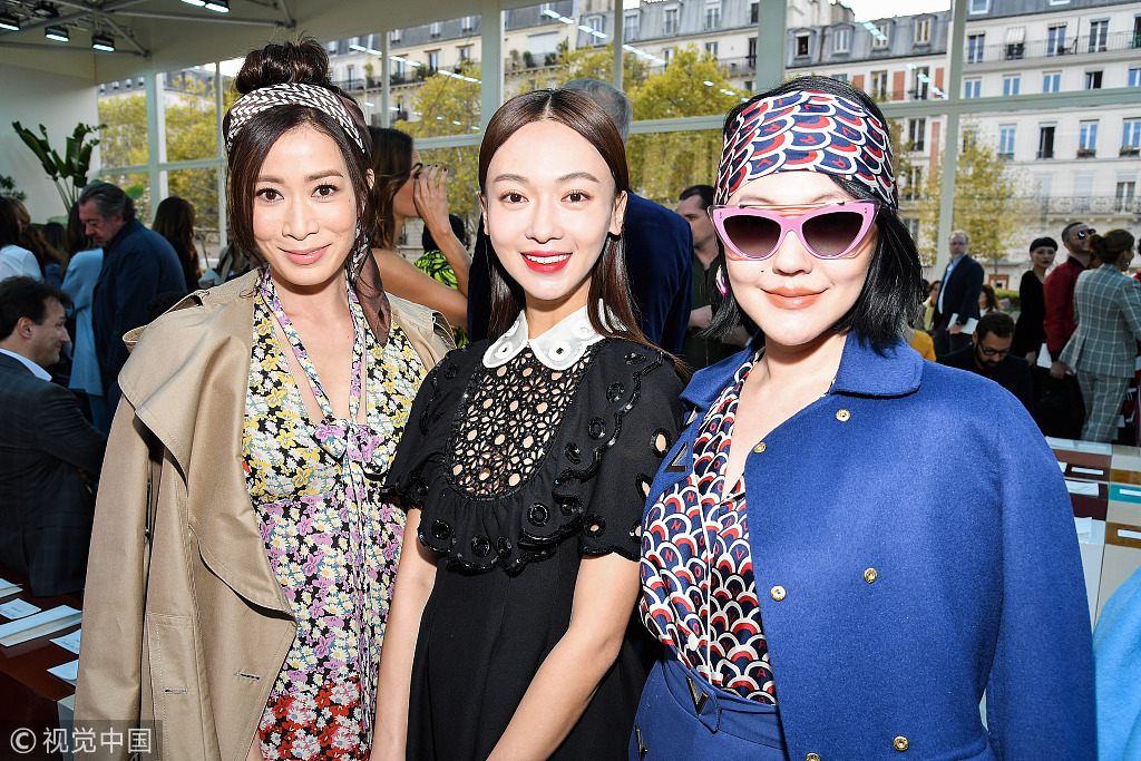 Chinese Stars Delight 2019 Paris S S Fashion Week Chinadaily Com Cn