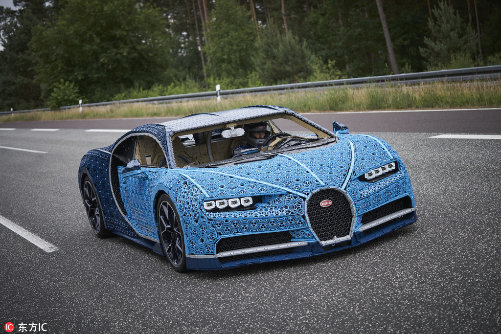 A Life Sized Version Of Bugatti Chiron Technic Model Made By The Lego Group Denmark Based Company Recruited Team Its Most Talented Builders To