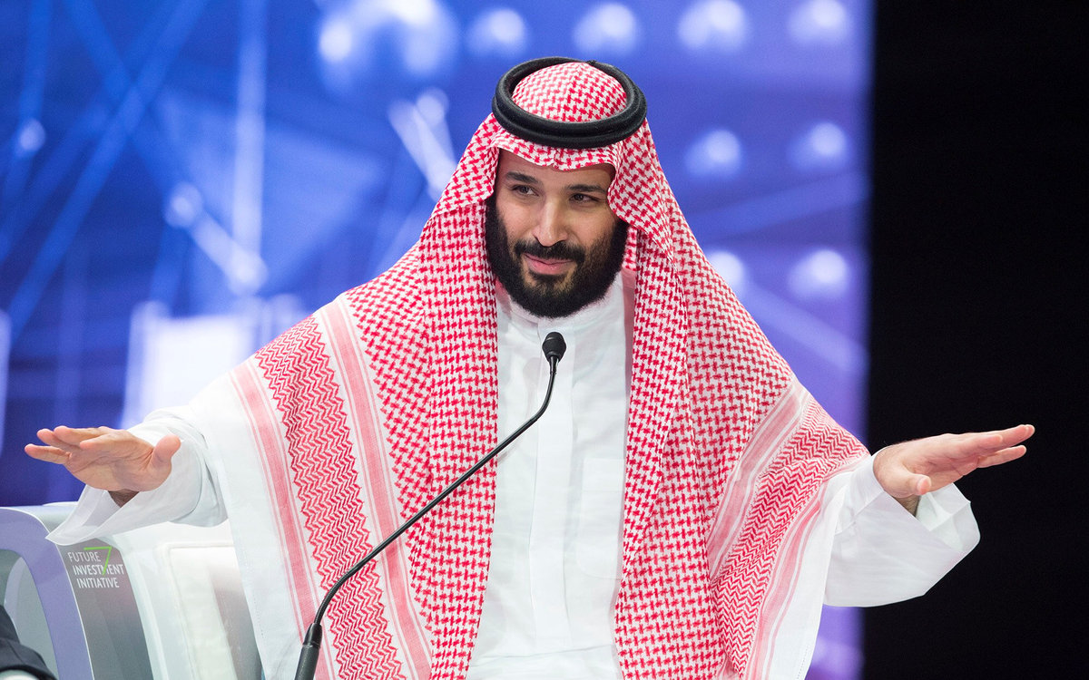 Saudi Crown Prince Mohammed bin Salman speaks during the Future Investment Initiative Forum in Riyadh Saudi Arabia Oct 24 2018
