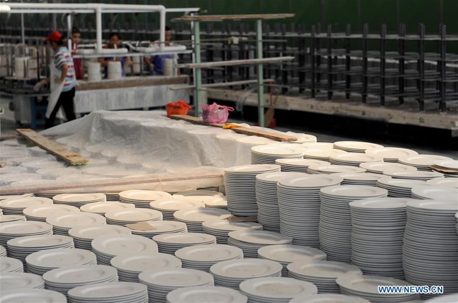 Ceramic town in China's Guangxi promotes local ceramics industry