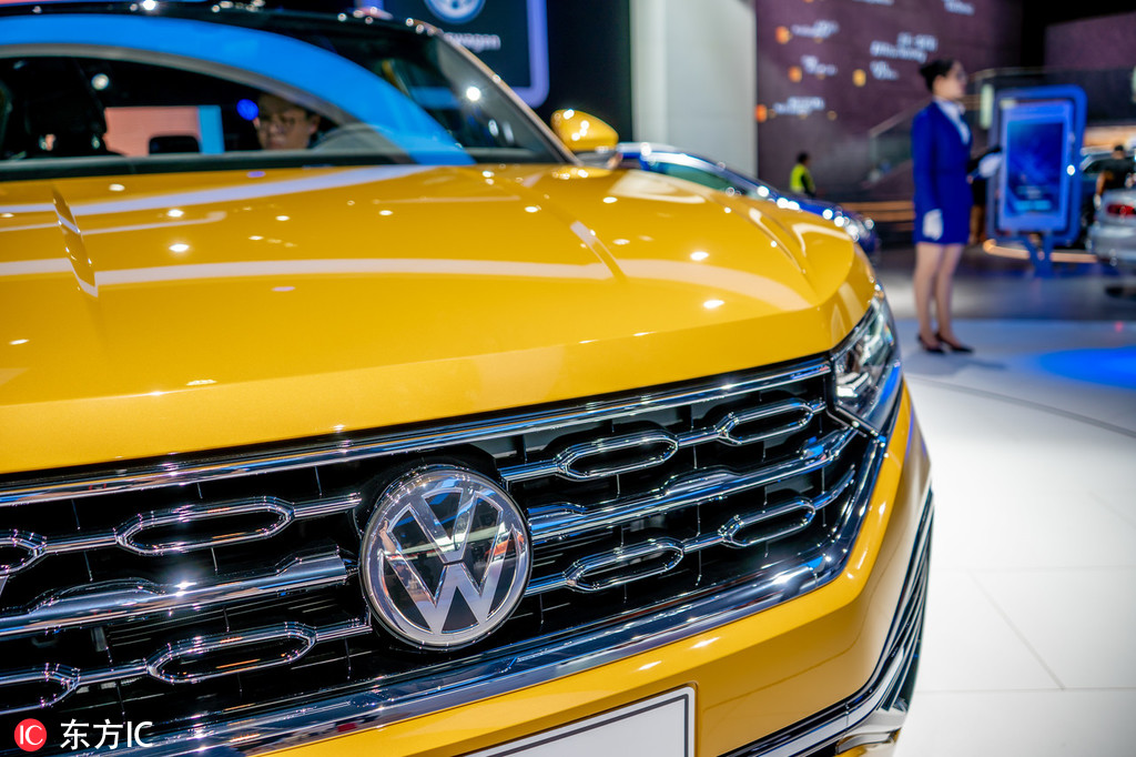 A Faw Volkswagen Automobile Is On Display During The 16th China Guangzhou International Exhibition Also Known As Auto 2018