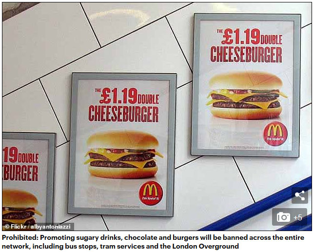 为减少肥胖儿童 伦敦交通系统将全面封杀垃圾食品广告