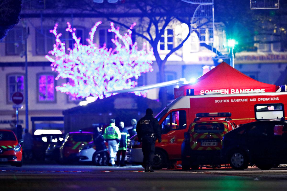 Strasbourg Christmas market shooting: Gunman at large after three killed