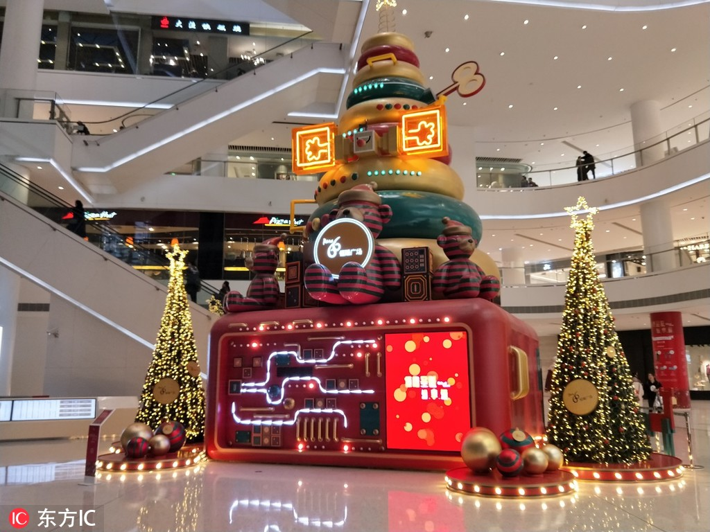 A Christmas-themed area in a shopping mall in Jinan, East China's Shandong province. [Photo/IC]