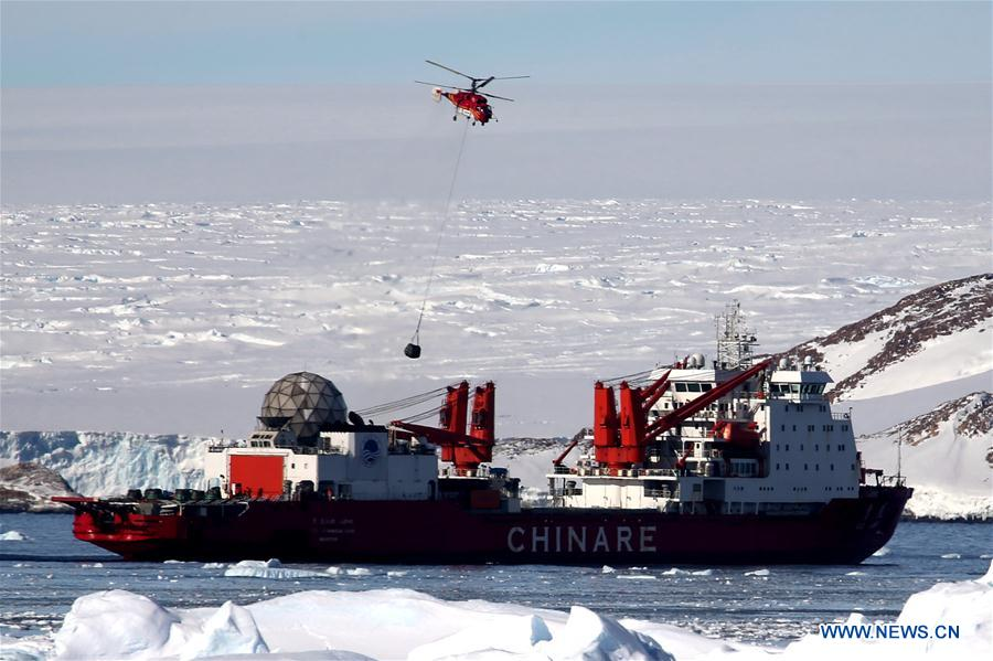 31878d558c8 China's icebreaker Xuelong arrives at the Zhongshan Station, a Chinese  research base in Antarctica, Feb 9, 2019. China's icebreaker Xuelong on Feb  9 arrived ...
