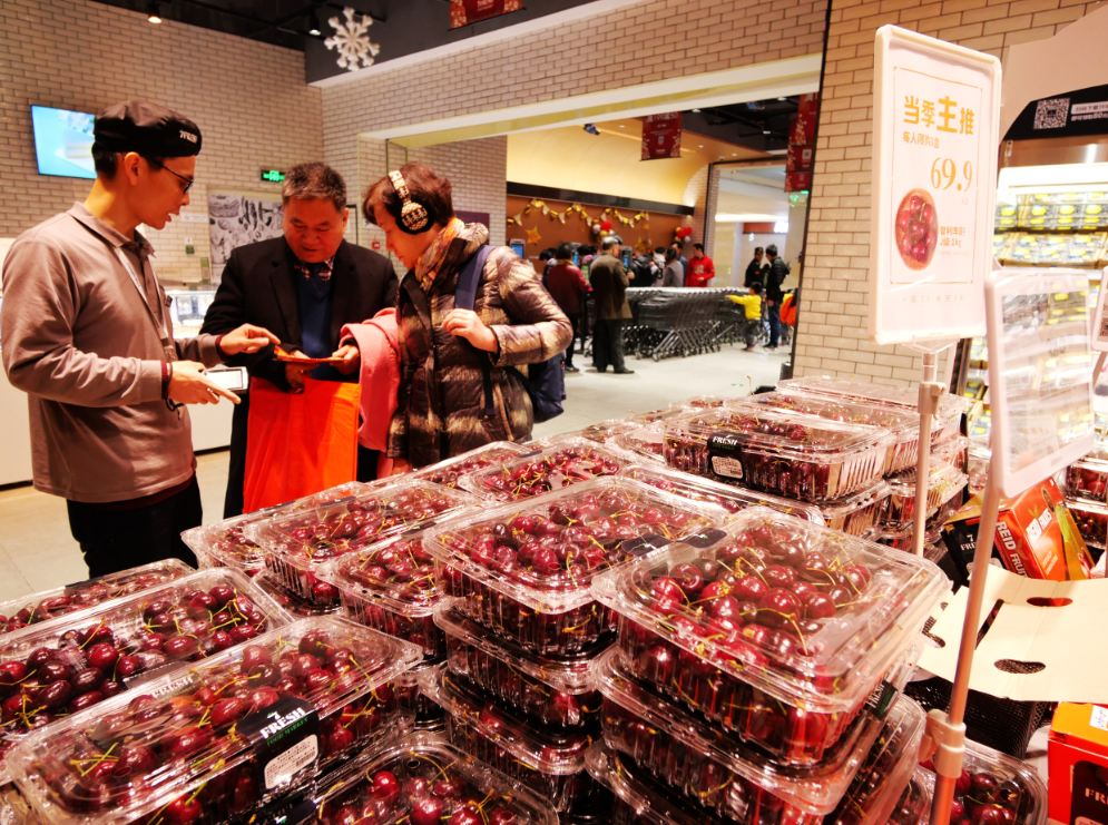 Chilean cherries a hit with festive shoppers - Chinadaily com cn