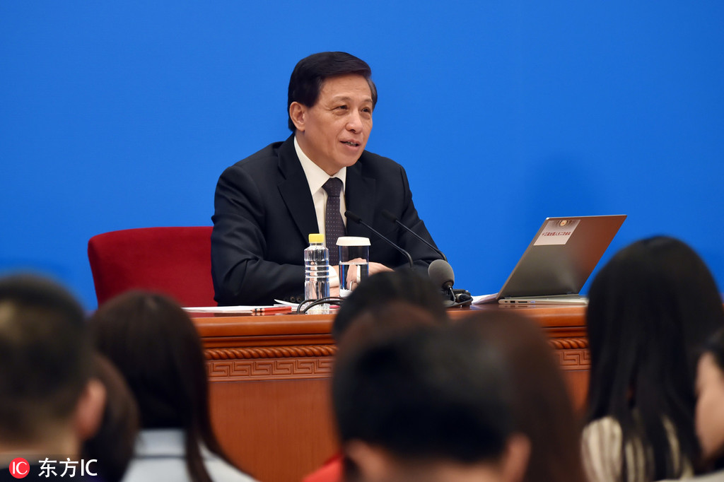 Zhang Yesui spokesman for the annual session of the National People's Congress