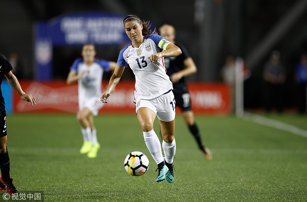 535ff46bd Alex Morgan of the US women s soccer team in action during a match against  New Zealand on Sept 19