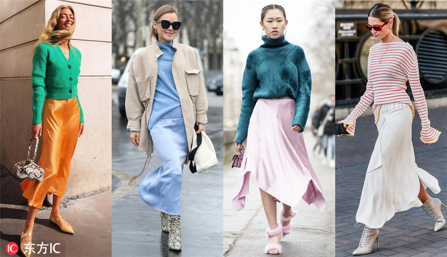 92848d621427 Sweaters and satin  A perfect spring combination - Chinadaily.com.cn