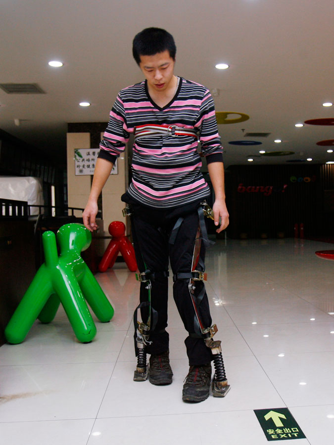 A skeleton to help China's deliverymen