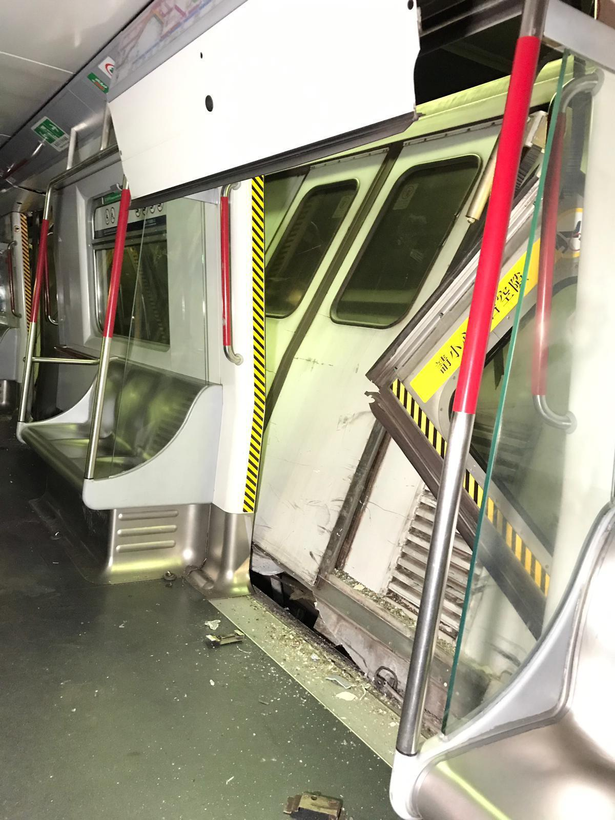 1 driver injured as Hong Kong MTR trains collide