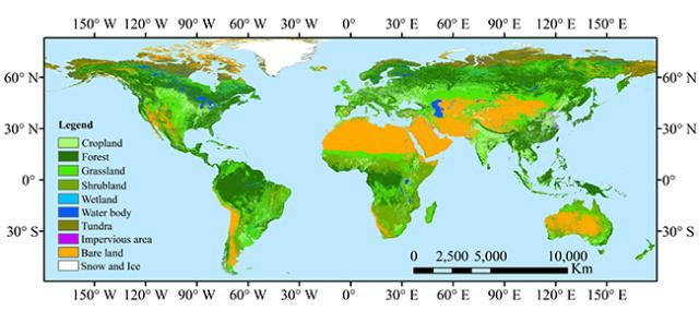 High resolution land cover map developed for environment ... on global map india, satellite of earth, global satellite maps, aerial photography of earth, blackline of earth, gps of earth, globe of earth, global view of the earth, resources of earth, global climate earth, global maps of north pole, global map view, global map water, united states of earth, global maps live, radar of earth, global map light, global map continents, global hemisphere map, global earth map residential homes,