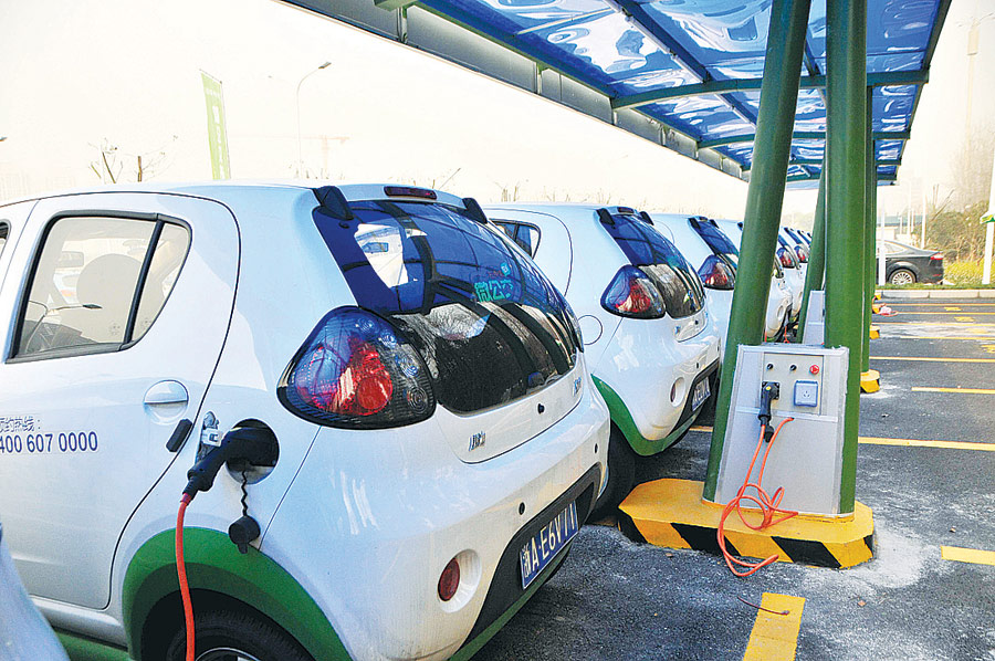 Electric Vehicles Being Charged At An Ev Station In Hangzhou East China S Zhejiang Province Photo Ic