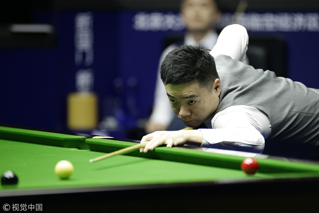 China's Ding takes early lead at snooker worlds